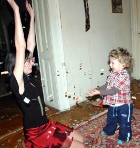 L'entusiasmo del genitore è essenziale per coinvolgere il bambino in qualsiasi attività.